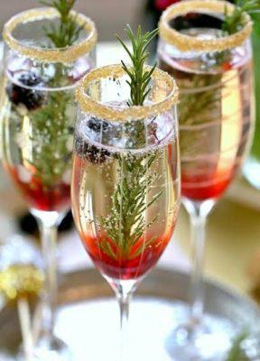 Cocteles para fiestas decembrinas Blueberry espumoso