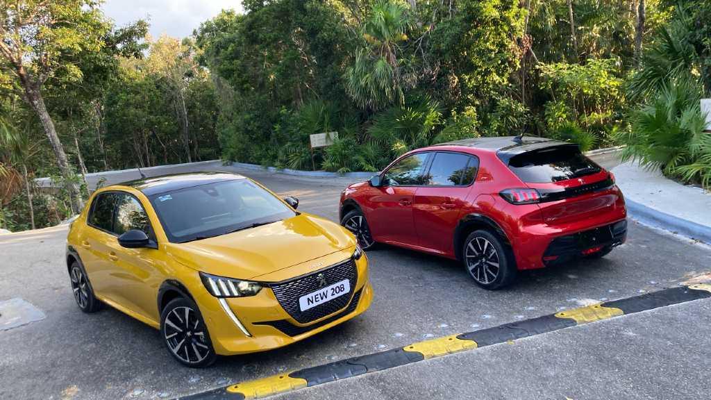 Peugeot 208 rojo y amarillo